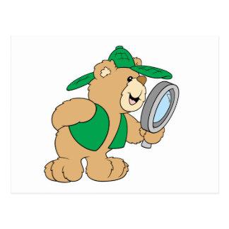 Spying Detective Bear Postcard