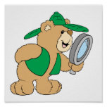 Spying Detective Bear Posters