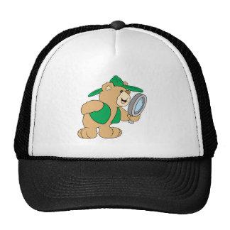 Spying Detective Bear Trucker Hat