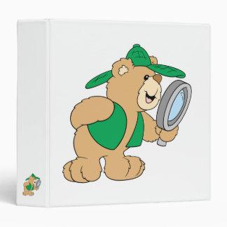 Spying Detective Bear Vinyl Binder