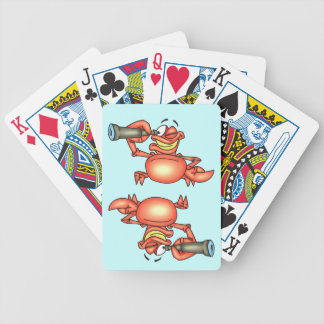 Spying Hermit Crab Playing Cards