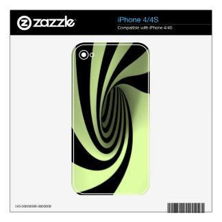 Spyral Green Skin iPhone 4 Skin