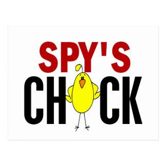 Spy's Chick Postcard