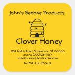 (sq)Etiqueta engomada Skep con las abejas