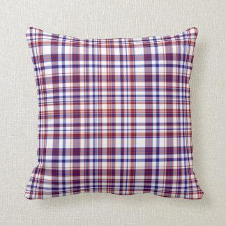 Sq.Pillow, colección blanca y azul roja 09 Cojín Decorativo