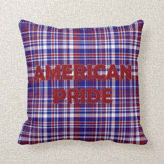 Sq.Pillow, rojo Tela-Americano del orgullo Cojín Decorativo