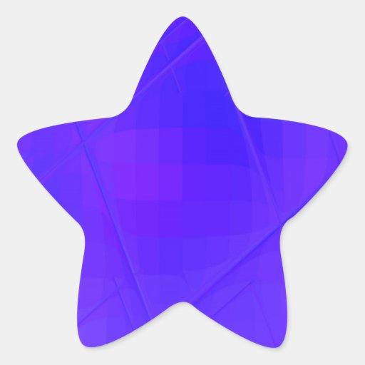SQ torcida reconstruida Calcomania Forma De Estrella