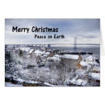 SQF Town in the snow Greeting Cards