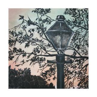 Sqiuare abstract modern art urban decor light canvas print