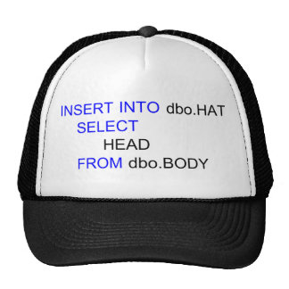 SQL Computer Programmers Hat