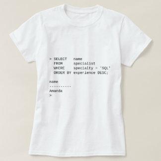 SQL Database Specialist: Amanda T-Shirt