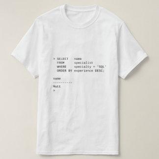SQL Database Specialist: Matt T-Shirt
