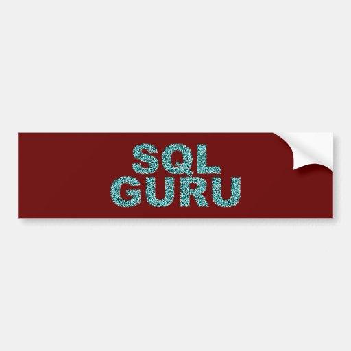 SQL gurú Pegatina De Parachoque