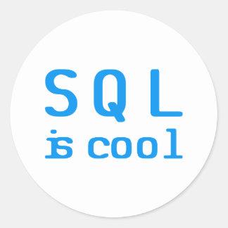 SQL is genial Etiqueta Redonda