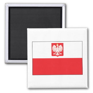 SqPolish Falcon Flag Square Magnet