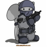 """SQRL Agent Photo Sculpture<br><div class=""""desc"""">This death squirrel in paramilitary police gear is a member of the elite SQRL forces,  a highly trained group prepared to deal with anything from squirrels gone rogue,  to bunny attacks.</div>"""