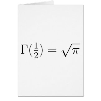 Sqrt(pi) from Gamma function Card
