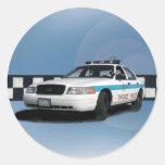 Squad Checkerband Blue Stickers