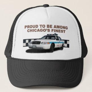 "Squad Checkerband ""Chicago's Finest"" (close-up) Trucker Hat"
