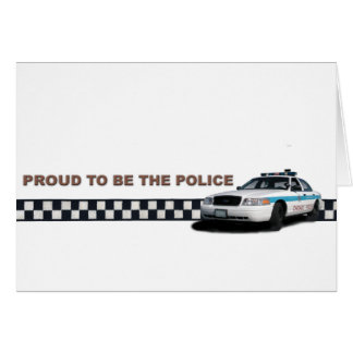 """Squad Checkerband """"Proud To Be The Police"""" Card"""