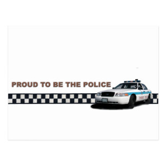 """Squad Checkerband """"Proud To Be The Police"""" Postcard"""