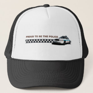 """Squad Checkerband """"Proud To Be The Police"""" Trucker Hat"""
