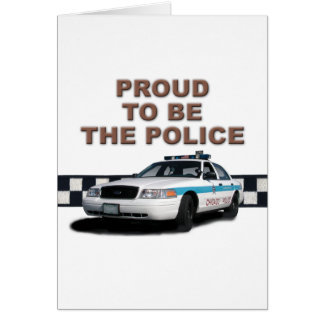 """Squad Checkerband """"The Police"""" (close-up) Card"""