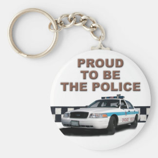 """Squad Checkerband """"The Police"""" (close-up) Keychain"""