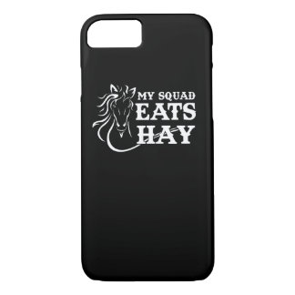 Squad Eats Hay Funny Equestrian Saying iPhone 8/7 Case