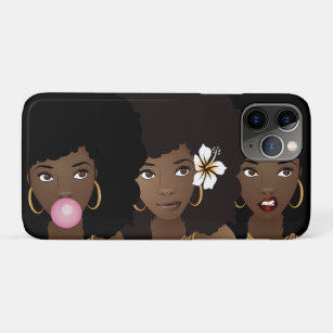 Black Girl Afro Iphone Cases Covers Zazzle
