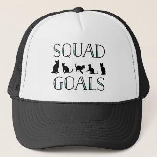 Squad Goals Cat Trucker Hat