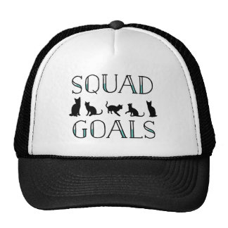 Squad Goals Cat Trucker Hat