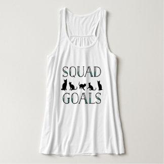 Squad Goals Funny Cat Lady Tank Top