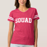 Squad Pink and White Collegiate Style T-shirt