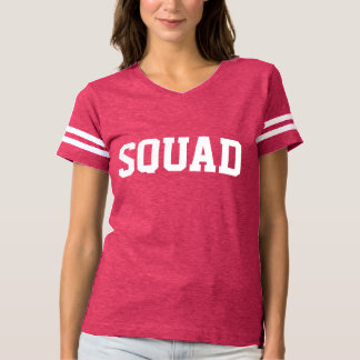 Football - Squad Pink and White Collegiate Style T-shirt