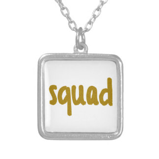 Squad Silver Plated Necklace