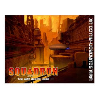 Squadron City Scape Postcard