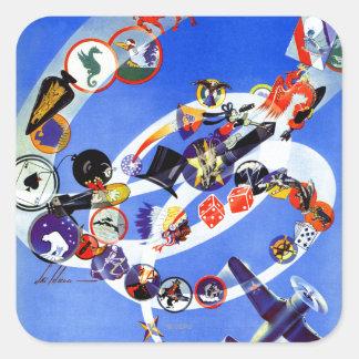 Squadron Insignia Square Sticker