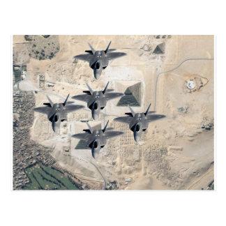 Squadron of F-22's Postcard