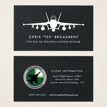Professional Business Squadron Patch EA-18G Growler Crew Member Business Card