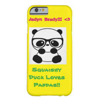 Squaishy Duck Loves Pandas! Barely There iPhone 6 Case