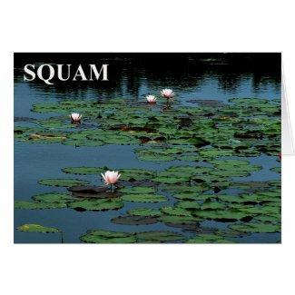 Squam Lake Lilies Card