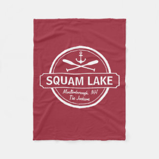 Squam Lake NH personalized town, name and anchor Fleece Blanket