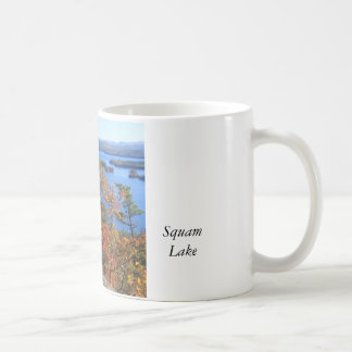 Squam Lake Rattlesnake Cliffs in Autumn Classic White Coffee Mug