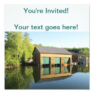 Squam River Boathouse Card