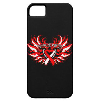 Squamous Cell Carcinoma Awareness Heart Wings iPhone 5 Cover
