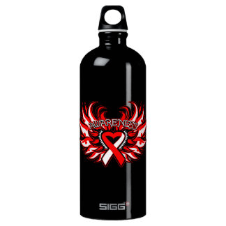 Squamous Cell Carcinoma Awareness Heart Wings SIGG Traveler 1.0L Water Bottle