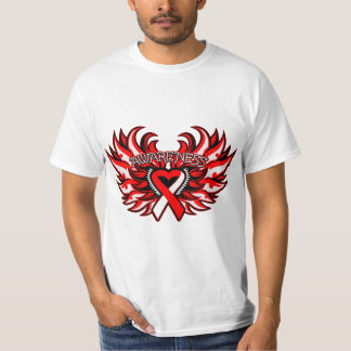 Squamous Cell Carcinoma Awareness Heart Wings T Shirts