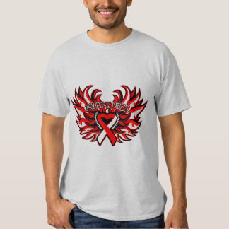 Squamous Cell Carcinoma Awareness Heart Wings T-shirts