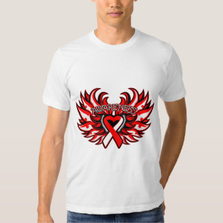 Squamous Cell Carcinoma Awareness Heart Wings Tees